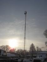 Строительство Теле2 в Унях(фото)