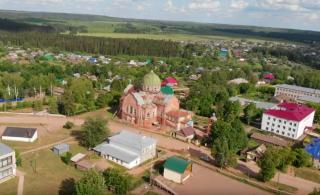 Поселок Уни засняли с квадрокоптера (ВИДЕО)